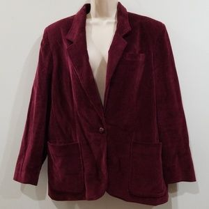 🕺💃Hp 🕺💃 Dana Blake burgundy blazer